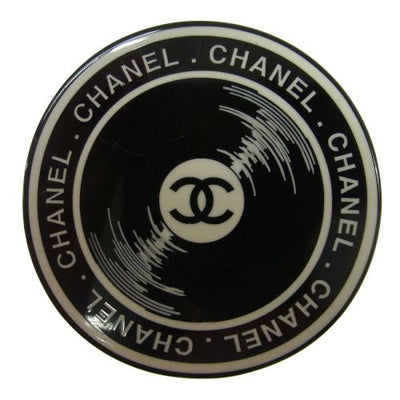 CHANEL Vintage CC Logos Brooch Pin Corsage White Black