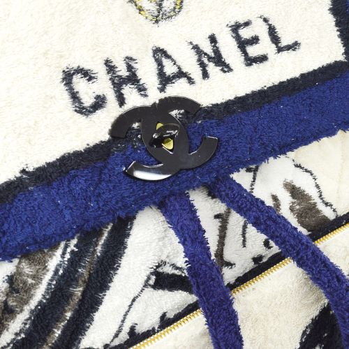 CHANEL Terry Cloth Quilted CC Backpack Bag Terry Cloth `94 Collection