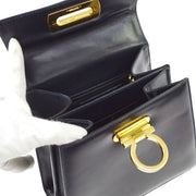Salvatore Ferragamo Gancini 2way Hand Bag Navy