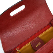 GUCCI Bamboo Line 2way Hand Bag Red