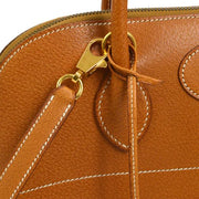 HERMES BOLIDE 35 2way Hand Bag Brown Porc