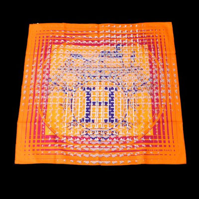 HERMES Faubourg Seconde Scarf Stole Orange
