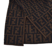 FENDI Vintage Zucca Pattern Long Sleeve Sweater Brown #42