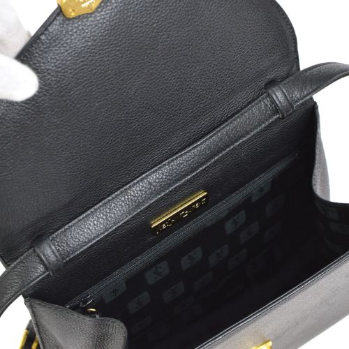 Yves Saint Laurent 2way Hand Bag Black Leather