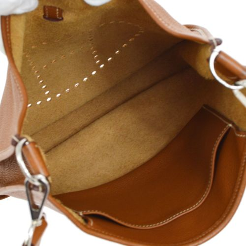 HERMES EVELYNE PM Shoulder Bag Brown Veau Crispe Togo