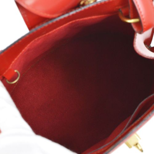 LOUIS VUITTON CLUNY SHOULDER BAG RED EPI LEATHER M52257