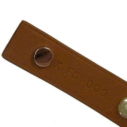 HERMES Mini Dog Clous Carres Bangle Bracelet Brown