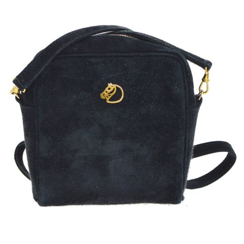 HERMES Logos Horse Shoulder Bag Black