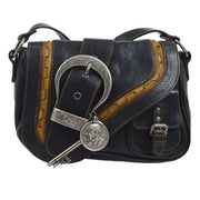 Christian Dior Gaucho Cross Body Shoulder Bag Black