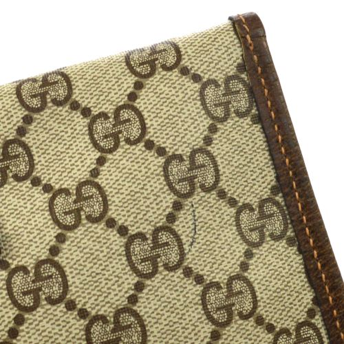 GUCCI Shelly Line Clutch Hand Bag Pouch Beige