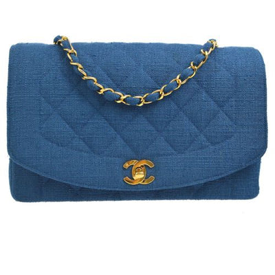 CHANEL Diana Medium Single Chain Shoulder Bag Blue