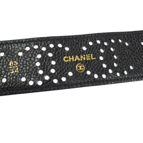 CHANEL CC Logos Belt Black