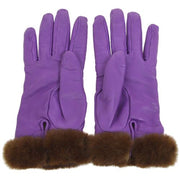 HERMES Cadena Charm Ladies Gloves Purple