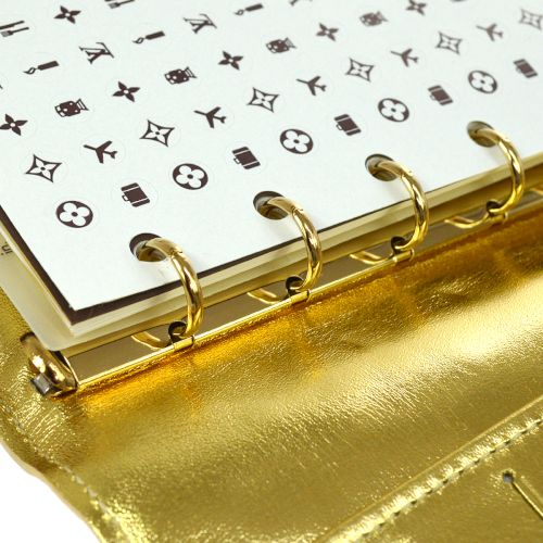 LOUIS VUITTON AGENDA PM NOTEBOOK COVER GOLD MONOGRAM MIROIR R20962