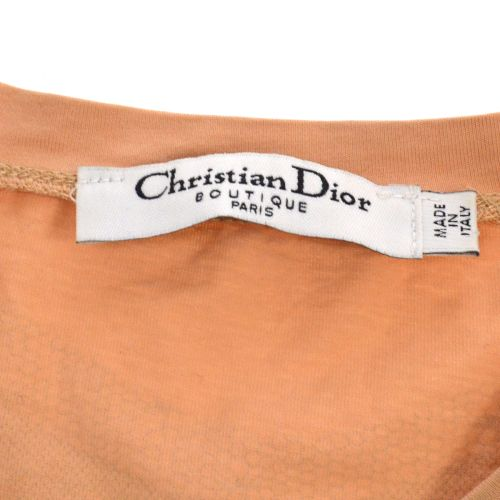 Christian Dior Short Sleeve T Shirt Tops Light Brown