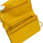 CHANEL Woc Chain Shoulder Wallet Bag Yellow