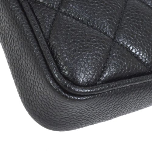 CHANEL Quilted CC Logos Waist Bum Bag Black