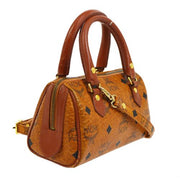 MCM Logos 2way Mini Hand Bag Brown