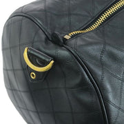 CHANEL Cosmos Line CC Logos Travel Hand Bag Black
