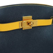 HERMES KELLY SPORT MM Shoulder Bag Bi-Color Veau Greine Couchevel