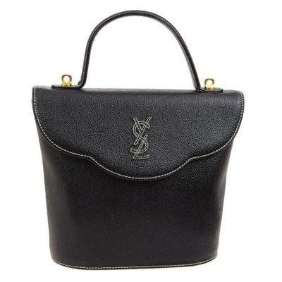 YVES SAINT LAURENT Logos 2way Hand Bag Black