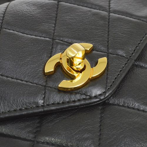 CHANEL Quilted CC Logos Bum Bag Waist Pouch Black