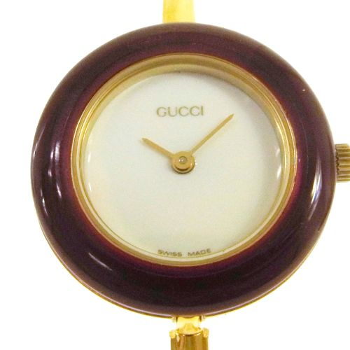 GUCCI Change Bezel Quartz Wristwatch Watch Gold
