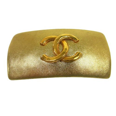 CHANEL CC Hair Barrette Gold