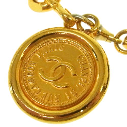 CHANEL CC Logos Medallion Gold Chain Belt