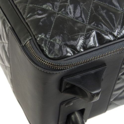 CHANEL Quilted Travel Carry Hand Bag Black