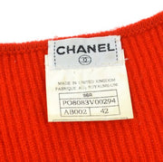CHANEL CC Logos Ensemble Cardigan Tops Red 96A