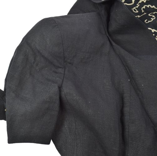 CHANEL CC Chain Short Sleeve Coat Jacket Black