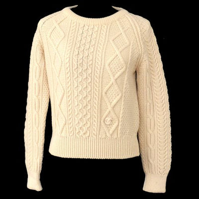 CHANEL CC Logos Long Sleeve Sweater Tops Ivory 95C
