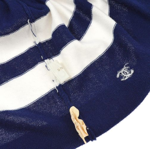 CHANEL CC Logos Long Sleeve One Piece Shirts Navy