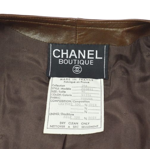 CHANEL CC Logos Sleeveless One Piece Brown