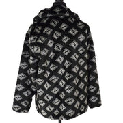 FENDI Zucca Pattern Long Sleeve Coat Jacket Black