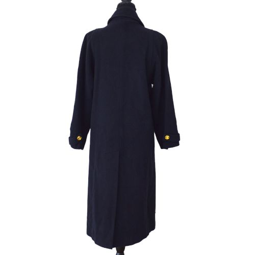 CELINE CC Long Sleeve Coat Jacket Black