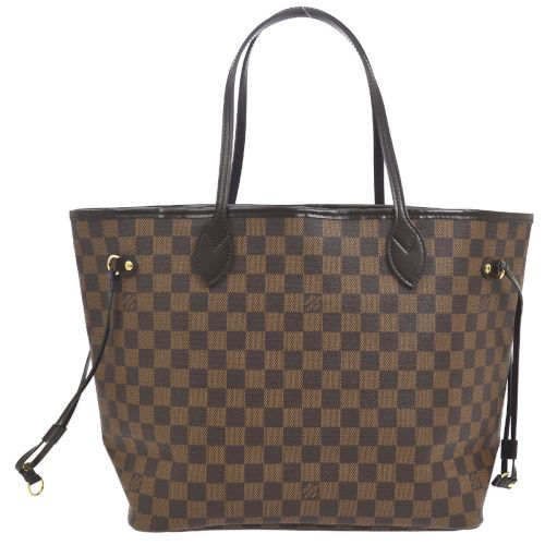 LOUIS VUITTON NEVERFULL MM SHOULDER TOTE BAG PURSE DAMIER N51105