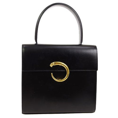 Cartier Panther 2way Hand Bag Black