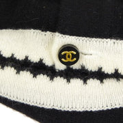 CHANEL CC Logos Short Sleeve Sweater Knit Tops Black