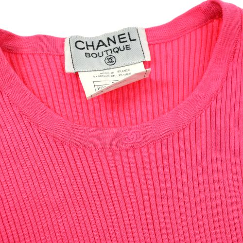 CHANEL CC Sleeveless Tops Tank Top Pink 96P