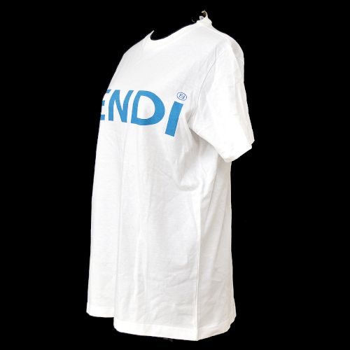 FENDI Logos Short Sleeve Tops T-Shirt White