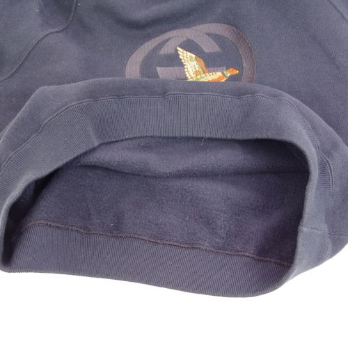 GUCCI Long Sleeve Sweat Shirt Tops Navy