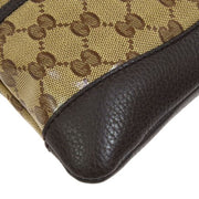GUCCI GG Pattern Cross Body Shoulder Bag Brown