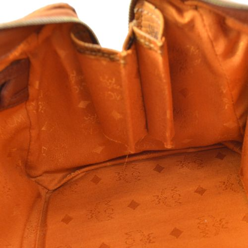 MCM Logos 2way Hand Bag Brown