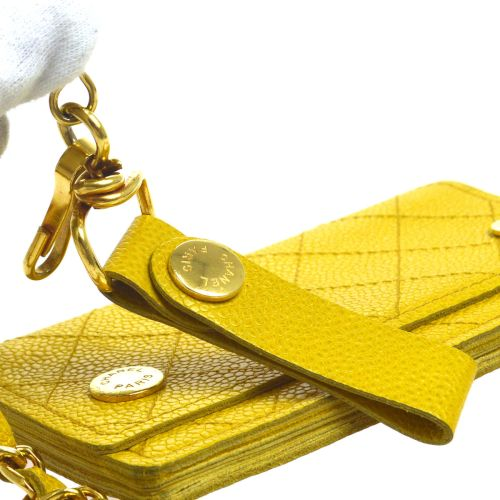 CHANEL Woc CC Chain Wallet Yellow