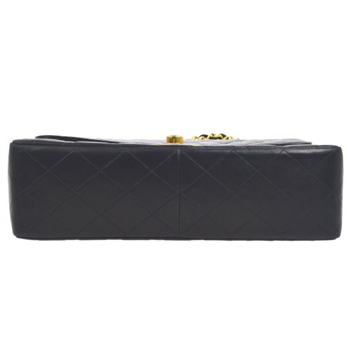 CHANEL Quilted Classic Flap Jumbo Shoulder Bag Black