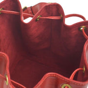 LOUIS VUITTON PETIT NOE DRAWSTRING SHOULDER BAG RED EPI M44107