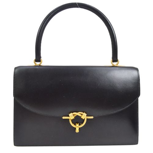HERMES CORDELIERS Hand Bag Black Box Calf