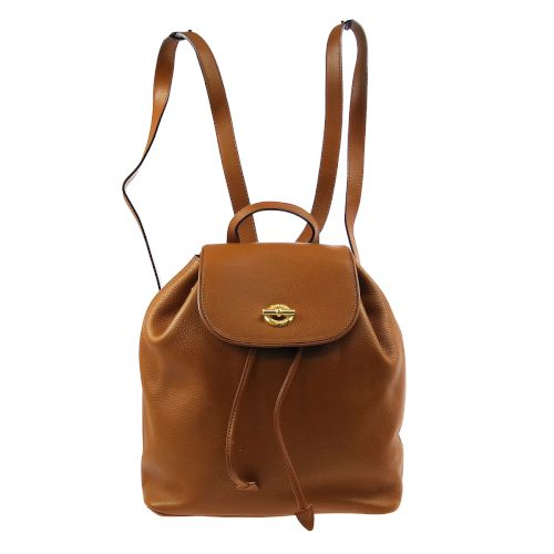 CELINE Ring Motif Backpack Hand Bag Brown